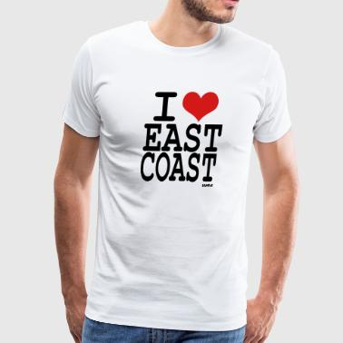 i love east coast by wam - Men's Premium T-Shirt