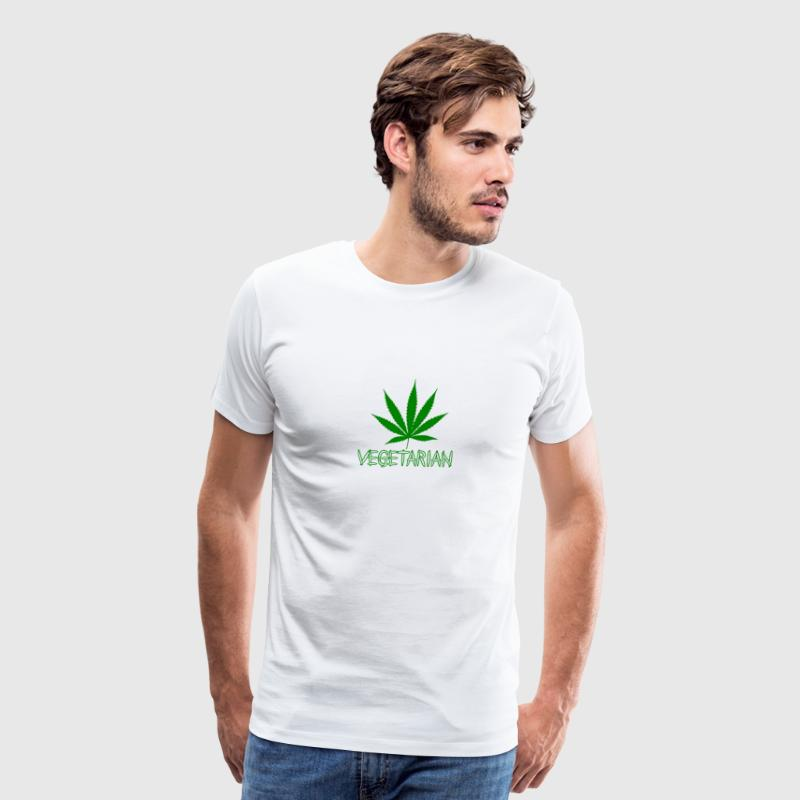 VEGETARIAN WEED - Men's Premium T-Shirt