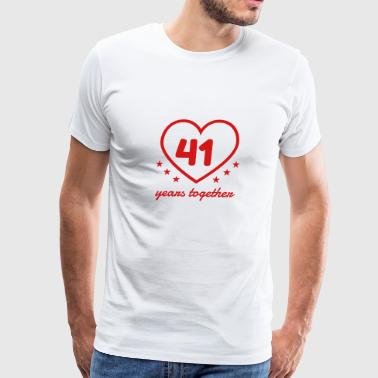 Marriage Mariage Wedding Anniversary 41 - Men's Premium T-Shirt