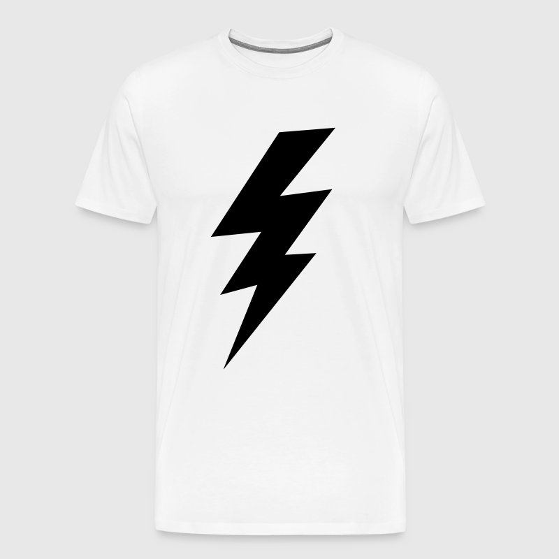 thunder lightning bolt flash - Men's Premium T-Shirt