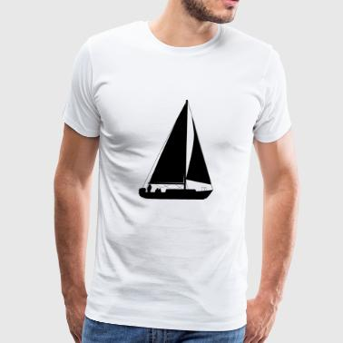 Sailing Sailboat Water Sports - Men's Premium T-Shirt
