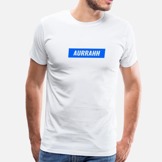 e4f88cfb0e7f Aurrahh Classic Box Logo Tee (Supreme Inspired) - Men's Premium T-Shirt.  Front