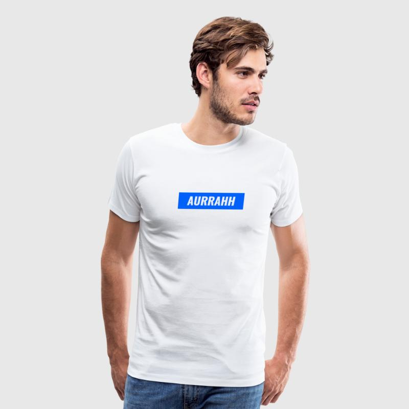 Aurrahh Classic Box Logo Tee (Supreme Inspired) - Men's Premium T-Shirt