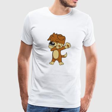 Dabbing Dancing Pets Dogs - Men's Premium T-Shirt
