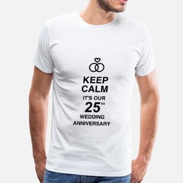 Silver Anniversary Marriage Mariage Wedding Anniversary 25 Silver - Men's Premium T-Shirt