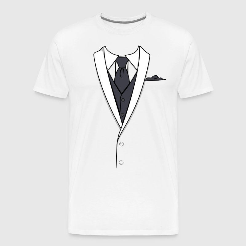 Fake White Tuxedo - Men's Premium T-Shirt