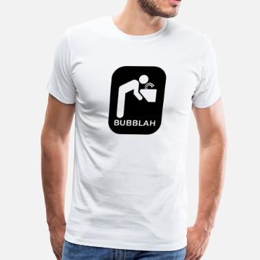 Null Funny Bubblah Boston Speak - Men's Premium T-Shirt