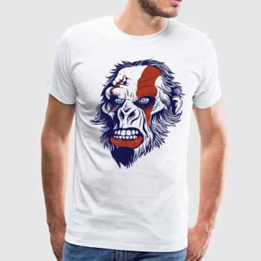 T-Shirt primitive neanderthal head vector image - Men's Premium T-Shirt