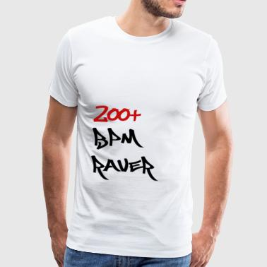 200 BPM Raver white Men / Women - Men's Premium T-Shirt