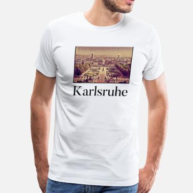 Karlsruhe Karlsruhe City Skyline Sights Silhouette - Men's Premium T-Shirt