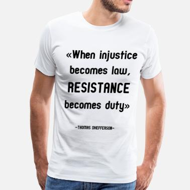 Anti-conservative Anti-Trump Resistance Tee - Men's Premium T-Shirt
