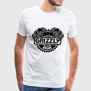 Grizzly bear nature wilderness forest claws - Men's Premium T-Shirt
