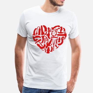 Kinky Kinky Sex Tools Heart - Men's Premium T-Shirt