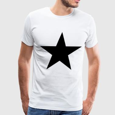 Star (Flock Print) - Men's Premium T-Shirt