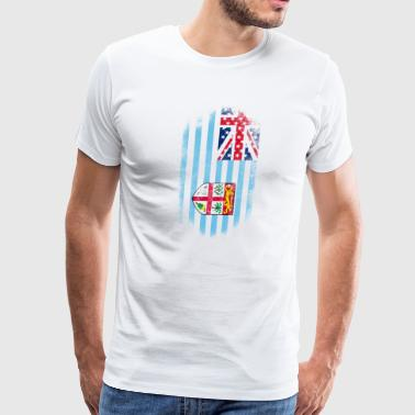 Fijian American Flag Fiji and USA Design - Men's Premium T-Shirt