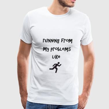 running from my problems like this emo - Men's Premium T-Shirt