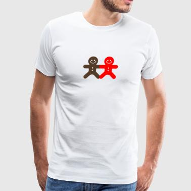Small Ginger Bread Man funny tshirt - Men's Premium T-Shirt