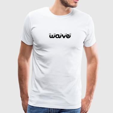 wave waving - Men's Premium T-Shirt
