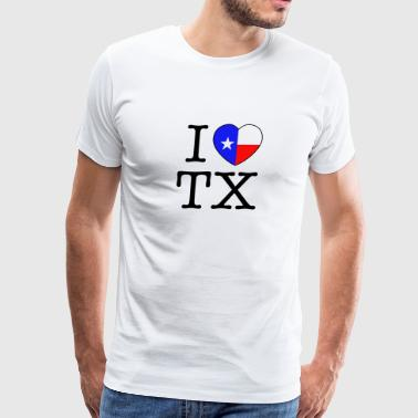I Heart Texas - Men's Premium T-Shirt