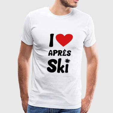 T shirt I heart aprés-ski - Men's Premium T-Shirt