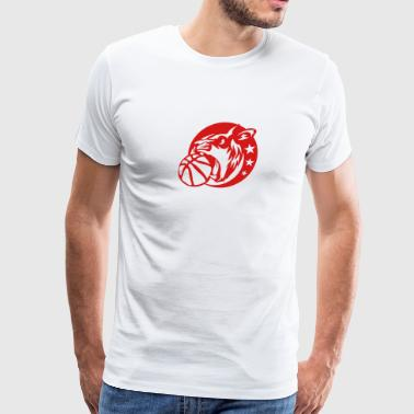 lion basketball sports logo 5028 animal - Men's Premium T-Shirt