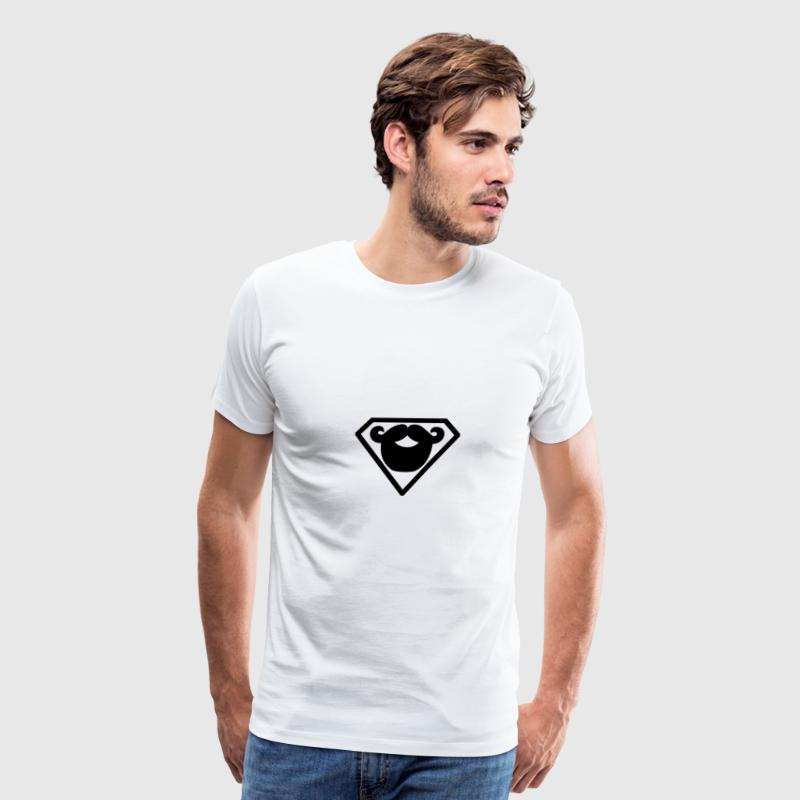 Superman beard - Men's Premium T-Shirt