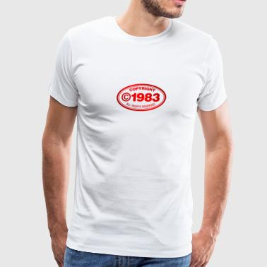 Copyright Copyright 1983 - Men's Premium T-Shirt