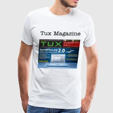 Men's Premium T-Shirt - Community,LINUX ART,TUX MAGAZINE
