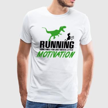 Running - sometimes you need motivation - Men's Premium T-Shirt