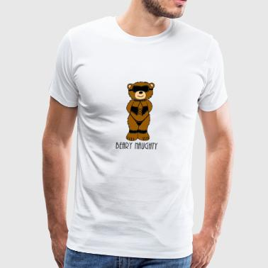 Beary Naughty Bondage Bear - Men's Premium T-Shirt