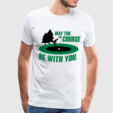 Golf: May the course be with you - Men's Premium T-Shirt