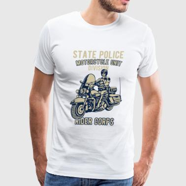 State Police Nj State Police Motorcycle Unit Division Rider Corps - Men's Premium T-Shirt
