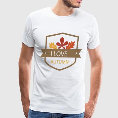 I Love Autumn - Men's Premium T-Shirt