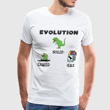 Gas Station T-Rex Evolution - Men's Premium T-Shirt