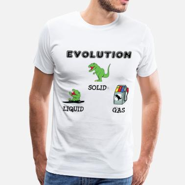 Petroleum T-Rex Evolution - Men's Premium T-Shirt