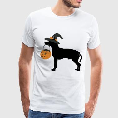 Candy collecting with the dog - Men's Premium T-Shirt