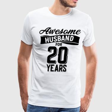 Awesome husband for 20 years - Men's Premium T-Shirt