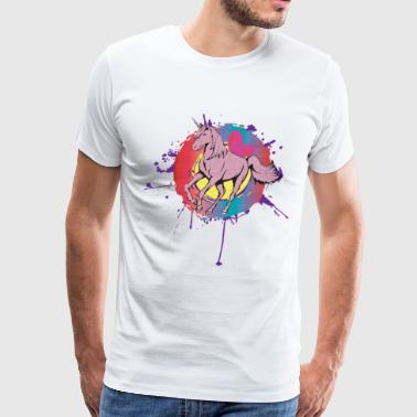 Rainbow Unicorn - Men's Premium T-Shirt