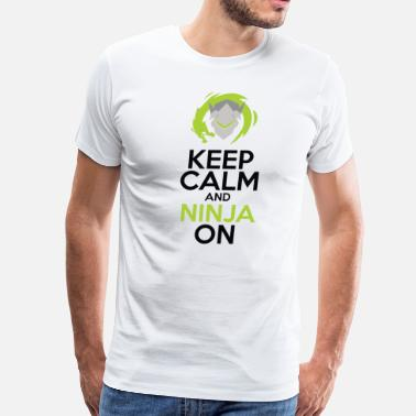 Keep Calm And Be A Ninja Keep Calm and Ninja On - Men's Premium T-Shirt