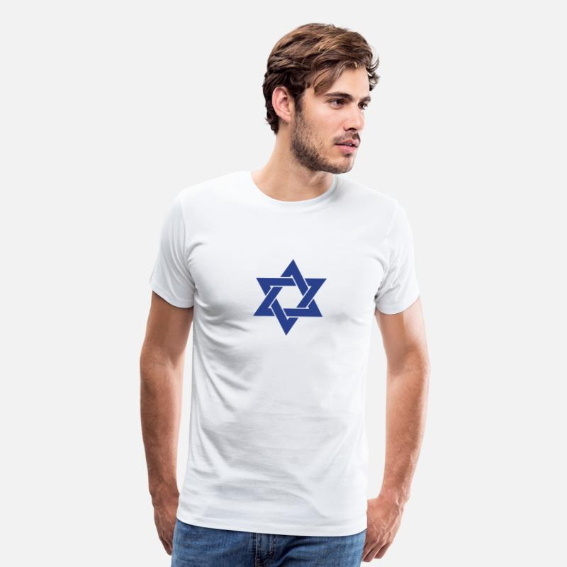 Israel T-Shirts - Star of David - Men's Premium T-Shirt white