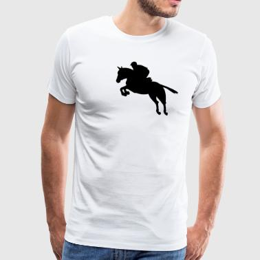 Show jumping horse - Men's Premium T-Shirt