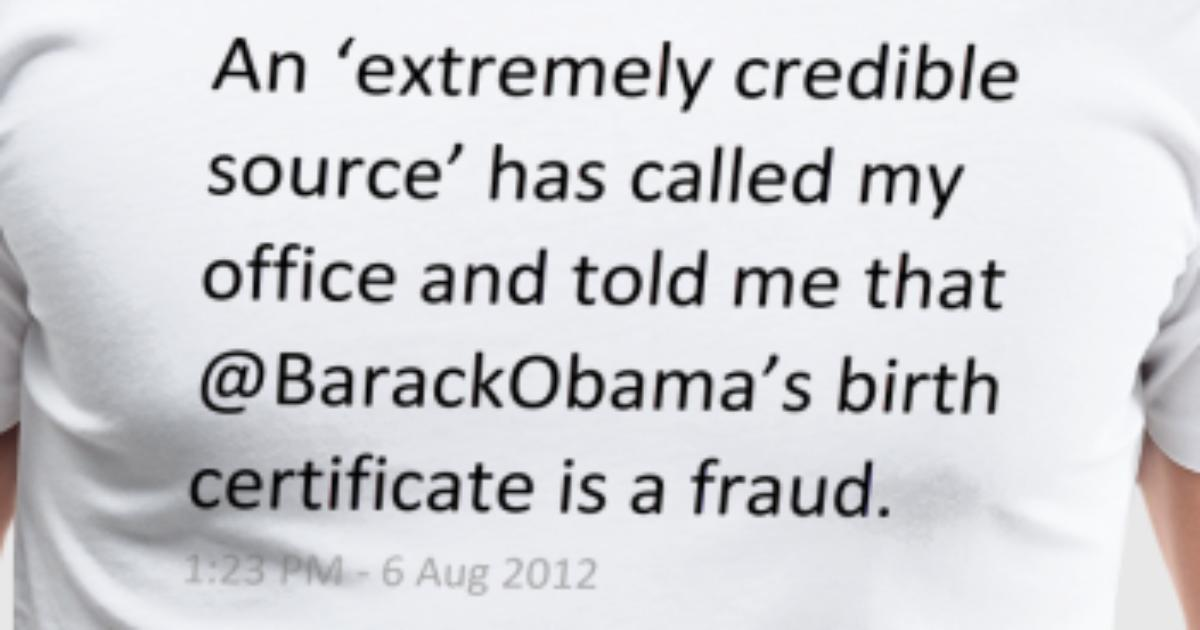 Barackobamas Birth Certificate Is A Fraud By Spreadshirt