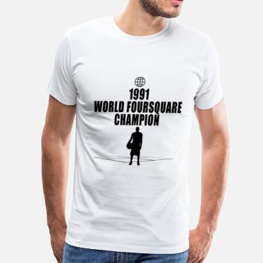 Champion Satire Foursquare Champion - Men's Premium T-Shirt