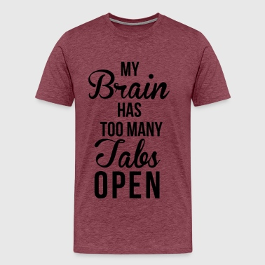 Brain Tabs  - Men's Premium T-Shirt