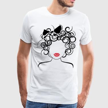 Global Couture Global Couture logo_curly girl T-Shirts - Men's Premium T-Shirt
