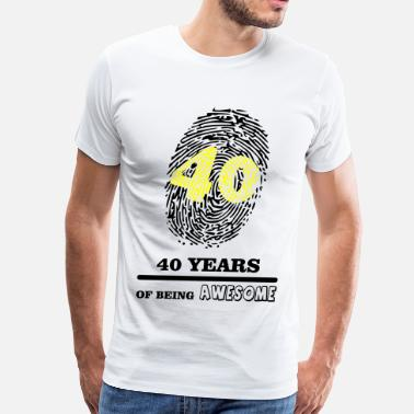 40 Year 40 Years - Men's Premium T-Shirt
