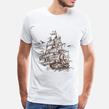 Ship At Sea ship at sea - Men's Premium T-Shirt