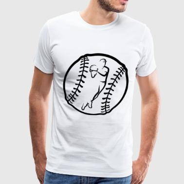 Baseball Throw In Ball - Men's Premium T-Shirt