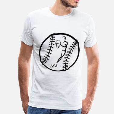 Catching Baseball Throw In Ball - Men's Premium T-Shirt