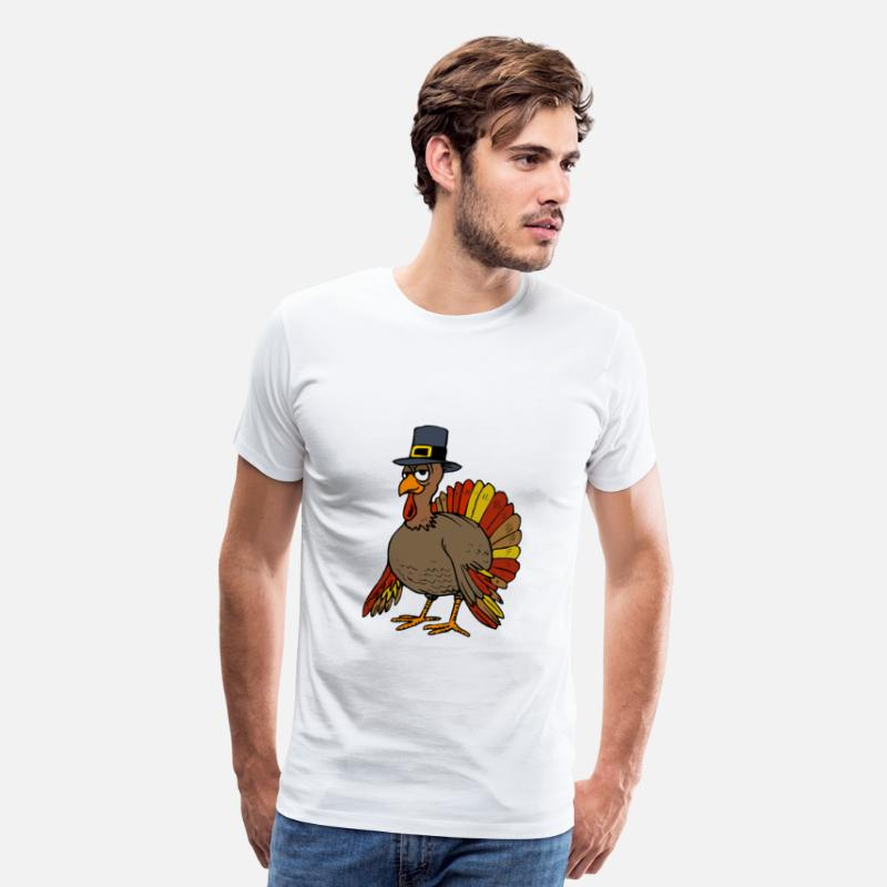 Thanksgiving T-Shirts - Thanksgiving Turkey - Men's Premium T-Shirt white